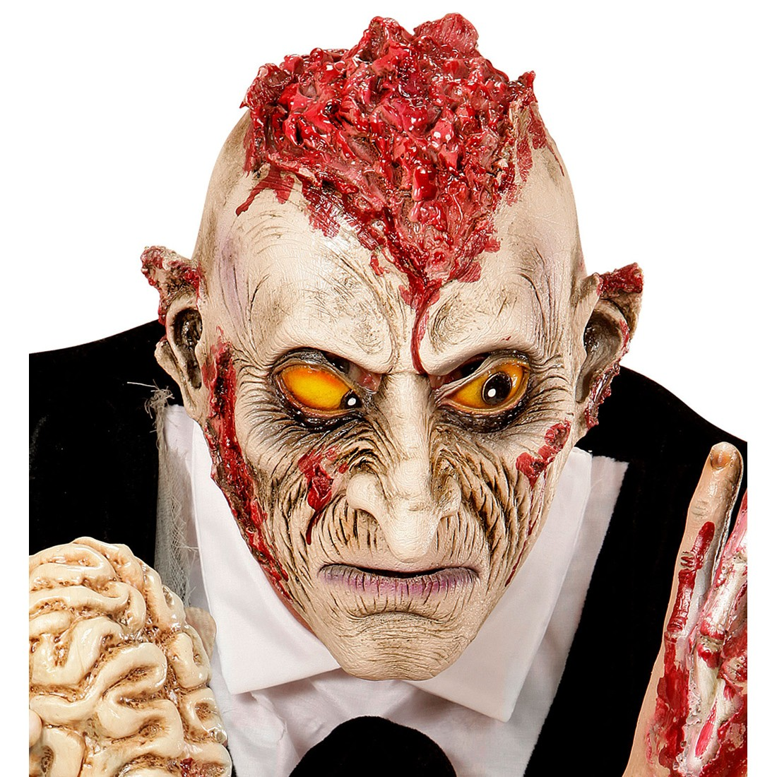 Zombie maske psycho monstermaske offenes gehirn horror zombiemaske hallowee 13 99 - Masque halloween qui fait peur ...