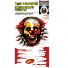 3 tlg. Halloween WC Sticker Toiletten Aufkleber Clown