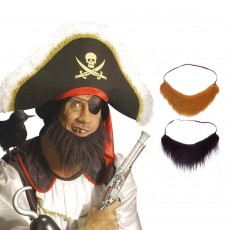 Buschiger Barbaren Bart Piratenbart