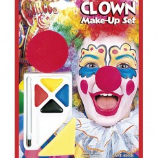 Clown Makeup Clownschminke mit Nase