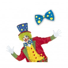 Clown Fliege blau Schleife