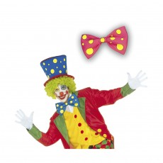 Clown Fliege pink Querbinder