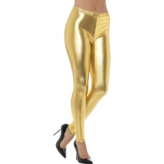 Goldene Disco Pants Metallic Leggings