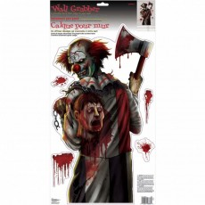 Halloween Deko Wand Sticker Horrorclown Halloweenparty...
