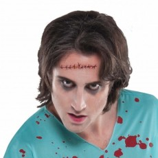 Halloween Horror Wunde getuckert Fake Tattoo