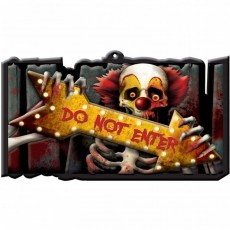 Halloween Schild DO NOT ENTER 43 x 25 cm Wandschild Warnung