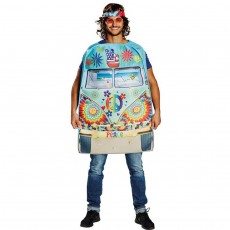 Lustiges Hippie Bus Kostüm Flower Power Outfit