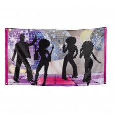 Partybanner Disco Strandparty 70er Jahre Party 150 x 90 cm