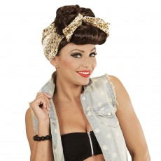 Pin Up Girl Damenperücke Rockabilly Perücke Damen braun