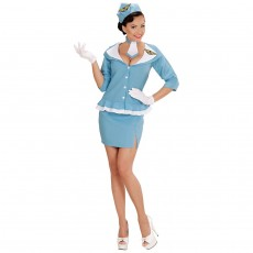 Retro Stewardess Kostüm Damen Uniform