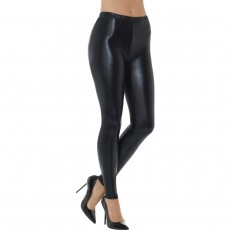 Schwarze Disco Pants Metallic Leggings