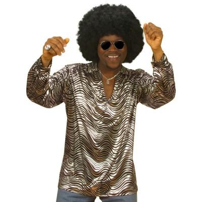 70 Jahre Disco Hemd Silber Xl 70er Jahre Mode 24 99
