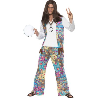 70er Jahre Hippie Kostum Flower Power Hippieoutfit Hippiekostum