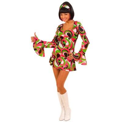 70er Jahre Damen Party Kleid Kostum Grun Gr L 22 99