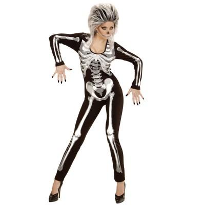 Attraktives Horror Skelett Kostum Fur Frauen Schwarz Weiss 32 99
