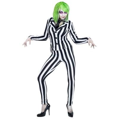 Attraktives Joker Kostum Fur Damen Schwarz Weiss 32 99