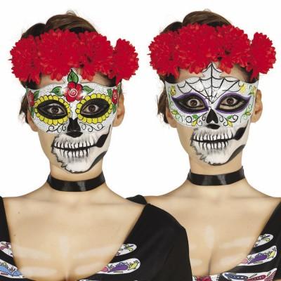 Augenmaske Sugar Skull Mexikanische Totenmaske 4 99