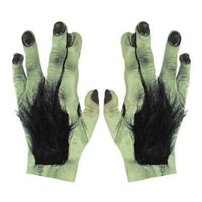Behaarte Monster Hände Riesen Werwolf Handschuhe Latex