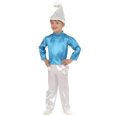Blauer Schlumpf Kostum Zwergenkostum Kinder Baby Schlumpfkostum