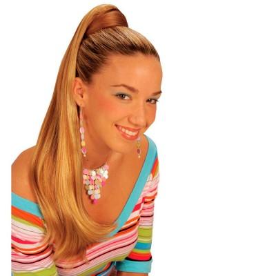 Blondes Haarteil Extensions Lang Glatt Verlangerung 7 49
