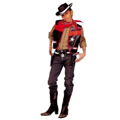 Cowboy Kostüm Für Jungen Cowboyweste Kinderkostüm 140 Cm 8 10 Jahre