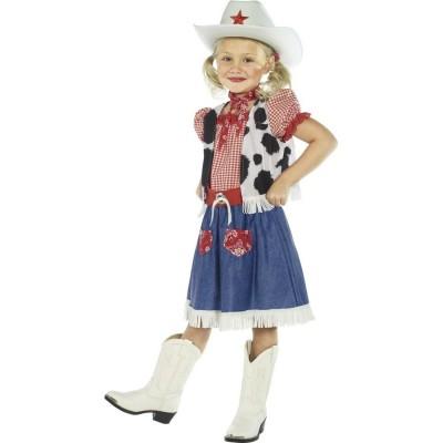 Cowboy Madchen Kostum Cowgirl Kostum Mehrfarbig M 140 Cm Western