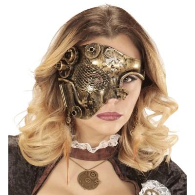 edle steampunk maske f r erwachsene kupfer metallic 11 95. Black Bedroom Furniture Sets. Home Design Ideas