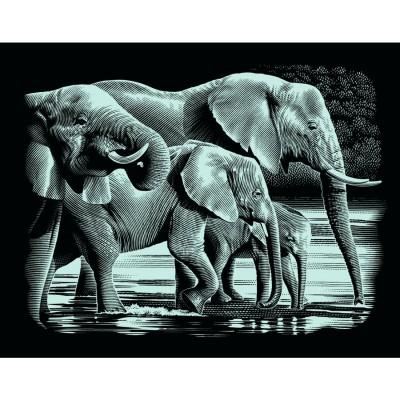 Mammut Kratzbild Silber ohne Rahmen Kratzbilder Scraper Labradors