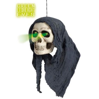 Deko Totenschädel Skelettkopf Partydeko mit leuchtenden Augen Totenkopf Schädel