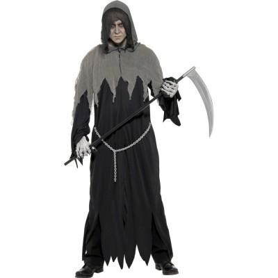 Halloween Kostum Tod M 48 50 Grim Reaper Sensenmann Halloweenkostum