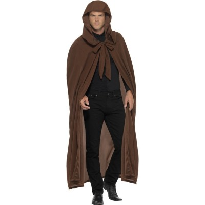 Jedi Ritter Kostüm Mittelalter Umhang Mit Kapuze Braun 2999