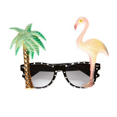 Karibik Scherzbrille Flamingo Party Brille