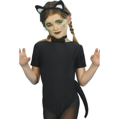 Katzenkostüm Kinder Katzen Set Schwarz Ab 4 Jahre Katzenset Kostüm