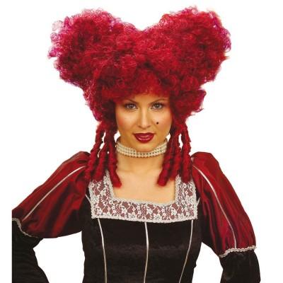 Klassische Damen Rokoko Perucke Barock Rot 14 99