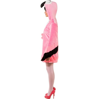 Originelles Flamingo-Kleid für Damen Pink