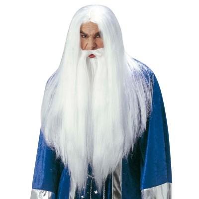 Perucke Zauberer Gandalf Mit Bart Magier Fasching 16 99