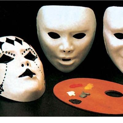 Plastik Halbmaske Zum Selbst Anmalen Karneval 2 79