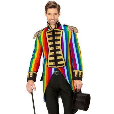 Regenbogen Frack Herren Zirkusdirektor Kostum 69 99