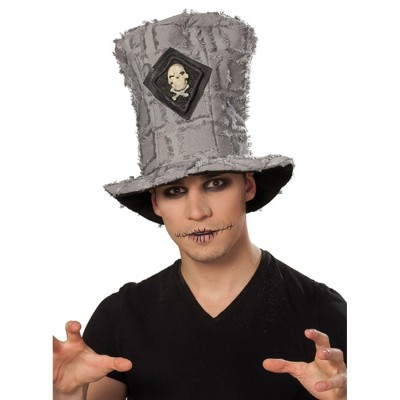 Totenkopf Zylinder Hut Grau 11 99